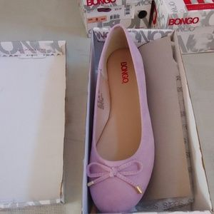 Bongo new in box flats pale lavender size 8M